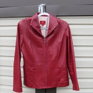Cole Haan Red Lambskin Leather Jacket Sz 6